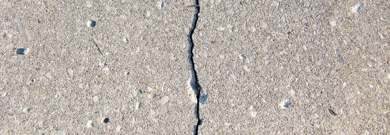 Large Crack In Concrete