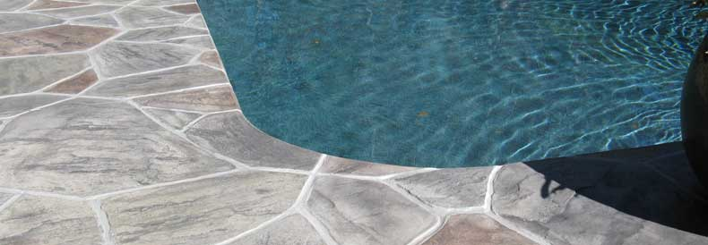 Pool Deck Concrete Overlay
