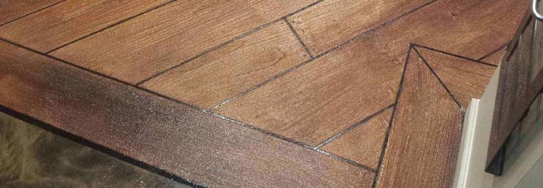 Wood Stamped Concrete Flooring